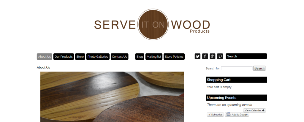 Serve It On Wood Products Launches their new site in 2014!